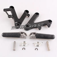 New Front Passenger Foot Pegs L&R Footrest & Brackets For Honda CBR250 MC22 1990 1997