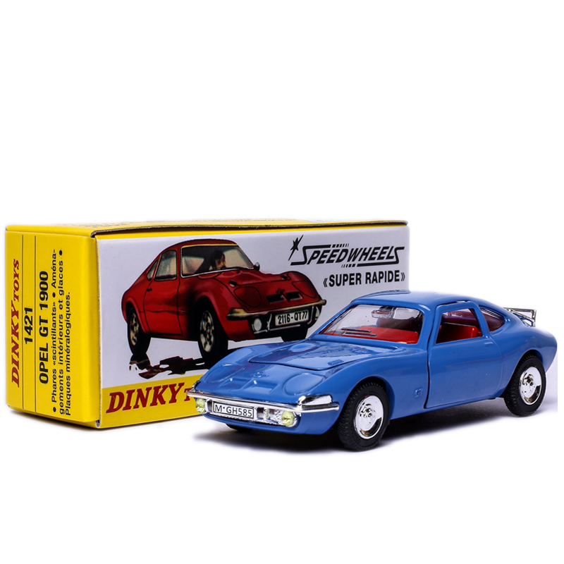 Dinky Toys Atlas 1421 1/43 OPEL GT 1900 SPEEDWHEELS Alloy Diecast Car Model Toys цена