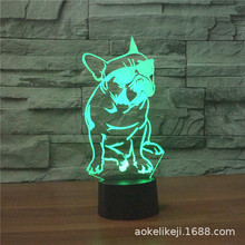 Dog with Sunglasses USB 3D Light Colorful Touch LED Visual L