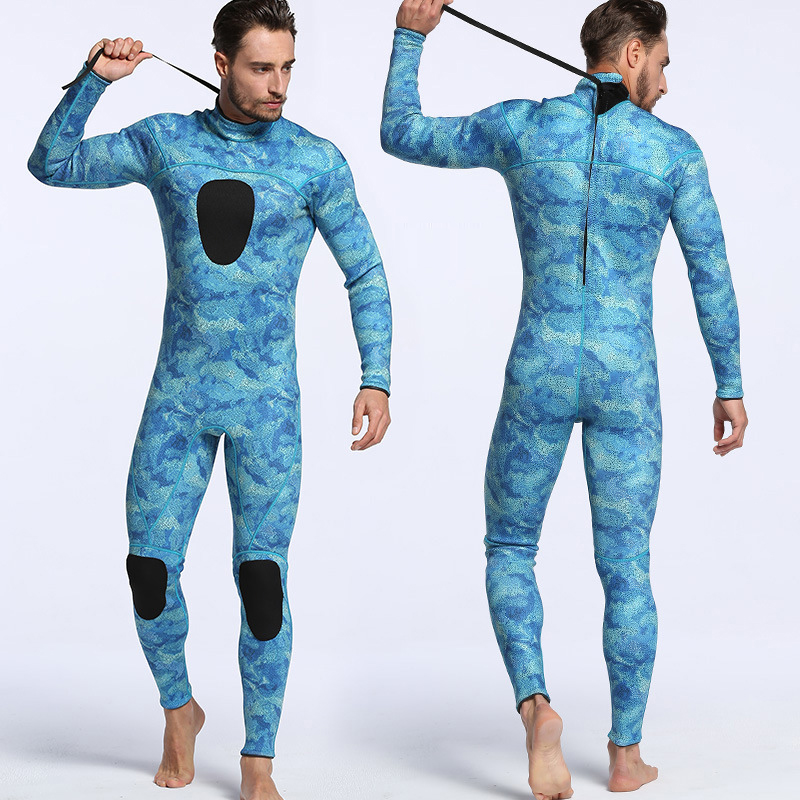 High Quality Outdoor Water Sports Clothing Diving Wetsuit 3mm Neoprene One-piece Warm Diving Suit Long Sleeve Surfing Clothes