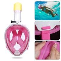 Adjustable Headband Diving Mask Full Face Snorkeling Mask Set Swimming Diving Training Scuba Mask For Gopro