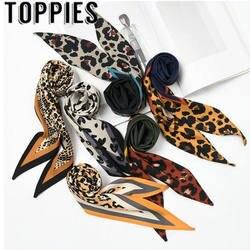 Осень и зима 32*115 см Женская обувь шарф модный блогер High Street Мода со змеиным принтом сатиновый Шарф Цепи печати Шаль