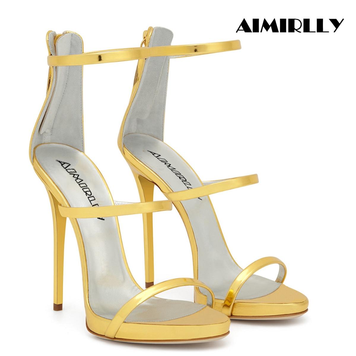 Ayakk.'ten Yüksek Topuklular'de Kadınlar için yüksek topuklu ayakkabı Sandalet Zarif Peep Toe Strappy Kapak Topuk Fermuar Bayanlar Yaz Parti Elbise Ayakkabı Kadın Aimirlly'da  Grup 1