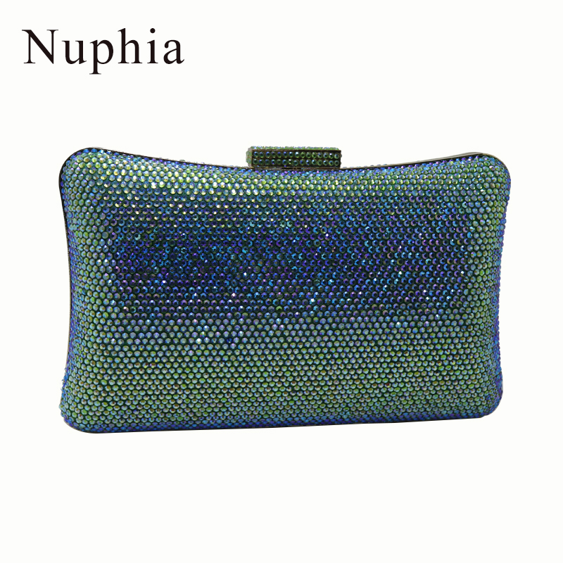 Nuphia 2018 Big size Evening Clutch Bags with Crystals for Party Evening Prom for Womens