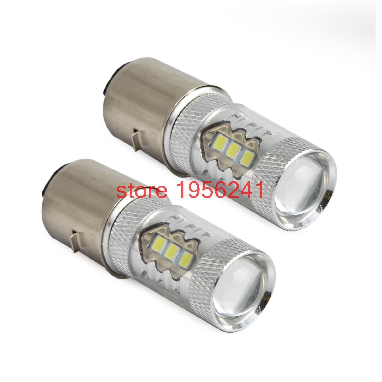 2-Pcs-80W-12V-BA20D-H6-White-High-Power-LED-Low-Beam-Headlight-Bulb-Motorcycle-For Elegantes High Power Led Dekorationen