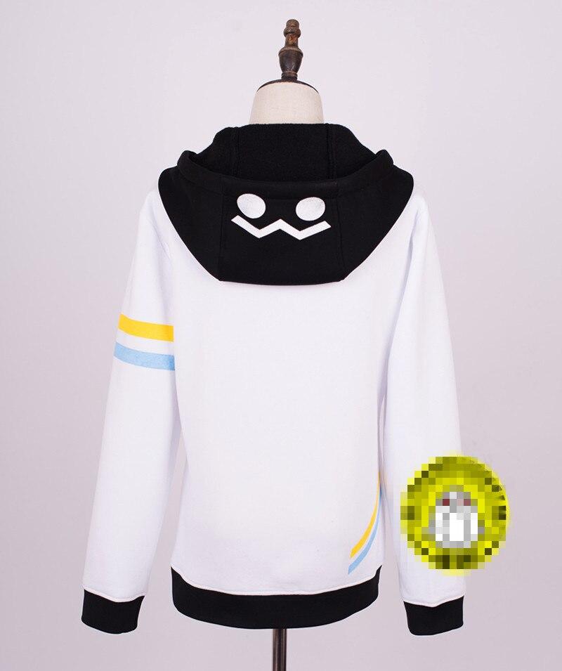 Anime Auto un Mixiu Cosplay Costume fille garçon Hoodies Autume hiver manteau blanc vêtements - 3
