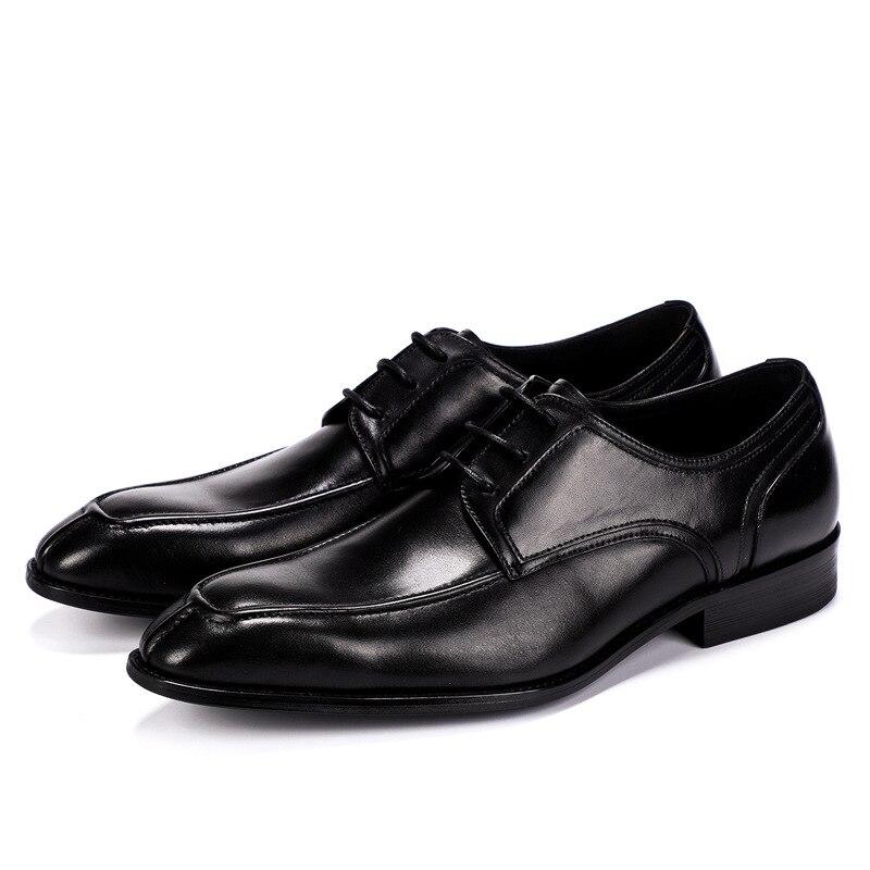 High Homens Cores Up Misturar 2019 Couro De Casamento Homem Lace Festa Sapatos Preto Dos Vestido Nova Primavera Oxfords Fashion marrom Negócios Genuíno Formal wPPvzItq