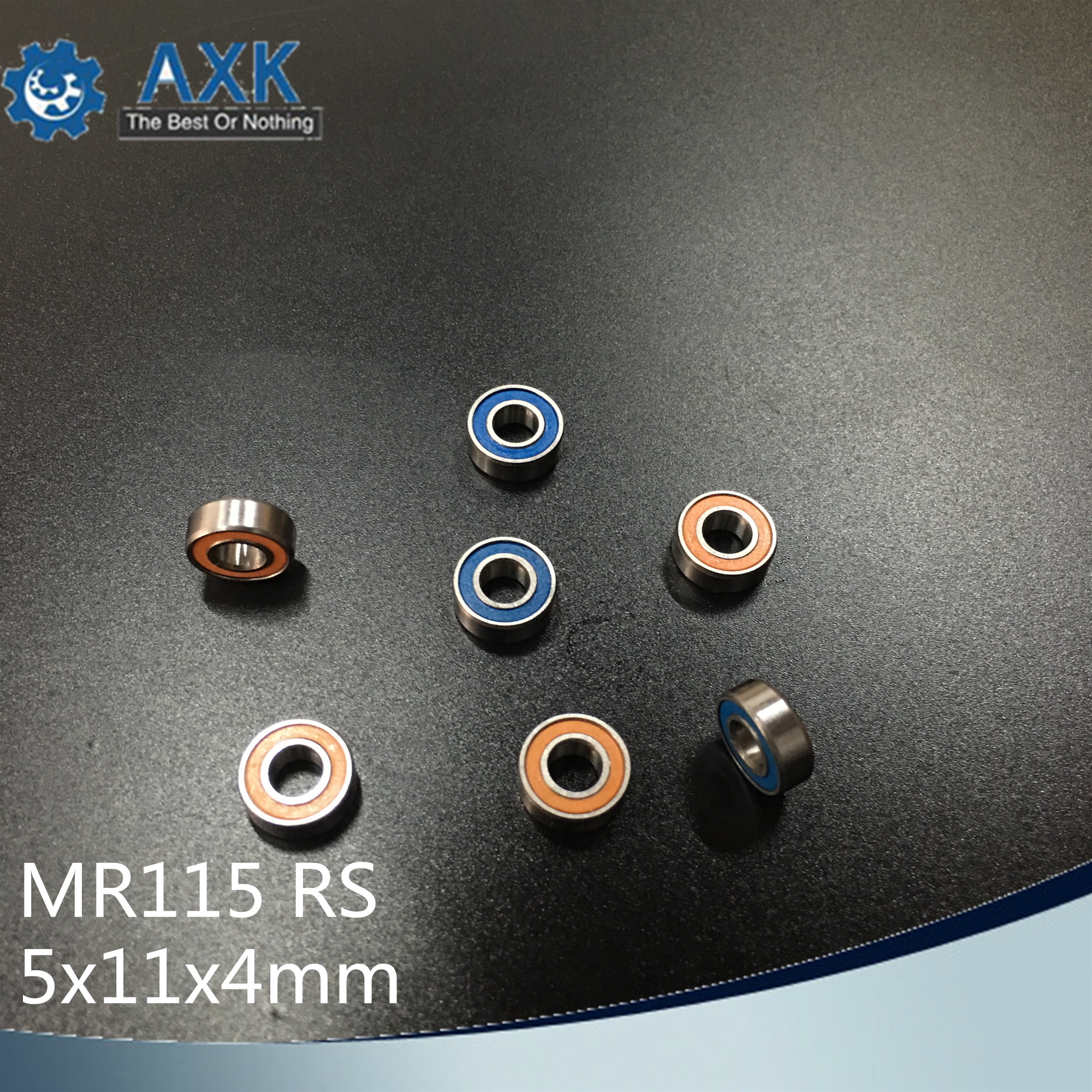 MR115RS Bearing 10PCS 5x11x4 mm ABEC 3 Hobby Electric RC Car Truck MR115 RS 2RS Ball Bearings MR115 2RS Orange blue Sealed c in Shafts from Home Improvement