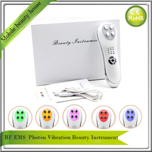Mini rf Radio Frequency EMS 5 Colors Led Photon Skin Rejuvenation Acne Treatment Anti Aging Wrinkle Removal Beauty Instruments