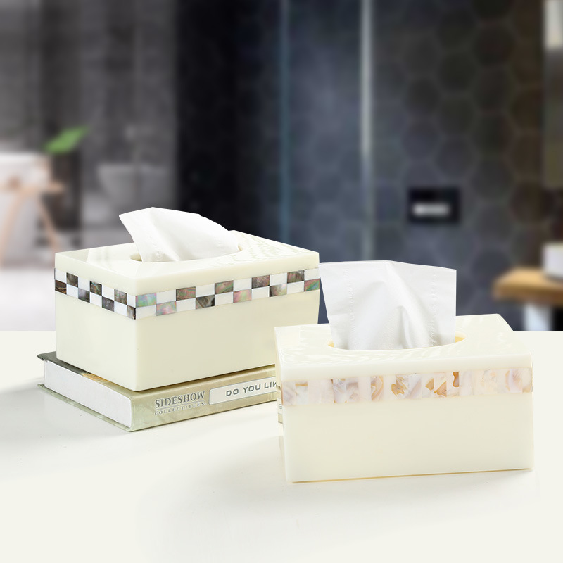 NEWYEARNEW Brief Resin Creative Tissue Boxes Canister Antique Noble Home Decoration Storage Tissue Holder Box Wedding