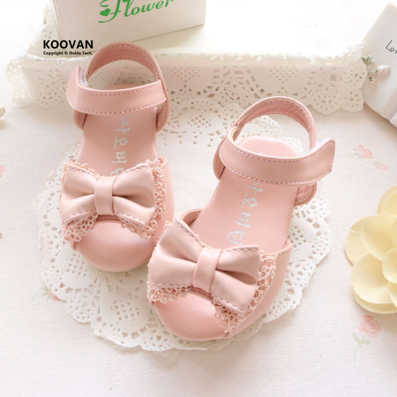 Koovan Children s Sandals 2017 Summer New Girls Lace Bow Princess Shoes Female Baby Sandals Baby