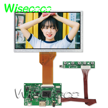 цена на Resistive touch screen 7.0 inch 800*480 tft lcd HDMI FPC 50pin driver board LCD Monitor Module DIY Kit