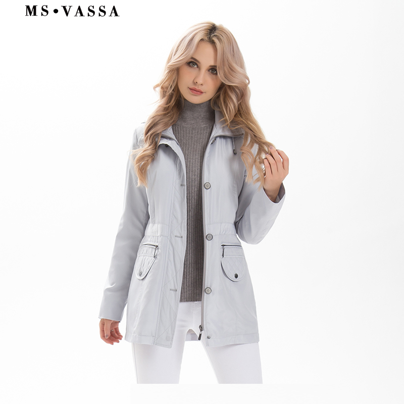 Ladies coats 2019 New Spring fashion Women Tremch plus size 7XL laying down collar pocket flap