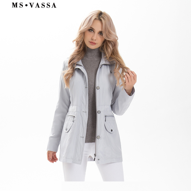 Ladies coats 2019 New Spring fashion Women Tremch plus size 7XL laying down collar pocket flap with diamond quilting outerwear