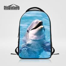 Dispalang милые животные с рисунком дельфина ноутбук рюкзаки для мужчин и женщин большой студент компьютер рюкзак Детский Повседневный Рюкзак
