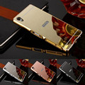 Luxury Aluminum Mirror Case for Sony Xperia Z1 Z2 Z5 Z3 Z5 Mini Compact Premium XA M4 M5 Aqua C3 C5 C6 Plating Back Cover Capa
