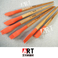 6pcs Silicone Rubber Pen Brush Styling Creative Pen Blooming Carbon Pen Stay White Glue Acrylic Paint