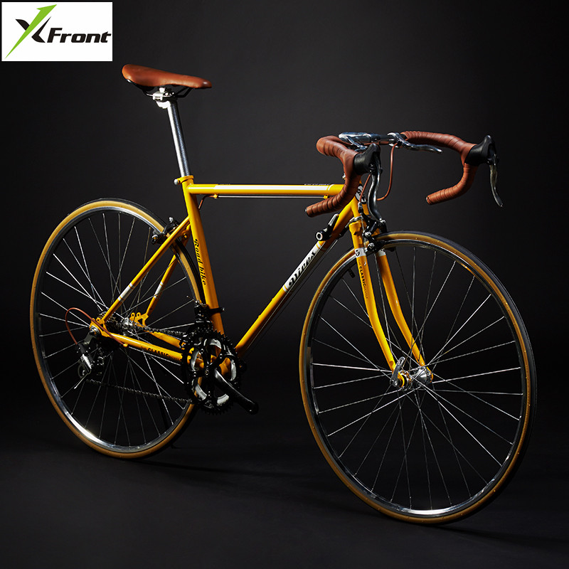 New Retro Road Bicycle Carbon Steel Frame 700CC Wheel SHIMAN0 14 Speed Dual V Brake Bike Outdoor Racing Cycling Bicicleta