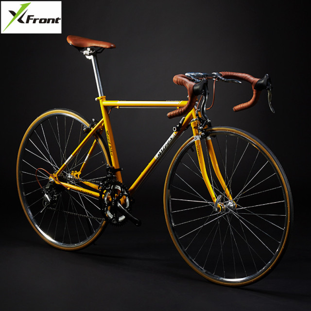 New Retro Road Bicycle Carbon Steel Frame 700cc Wheel