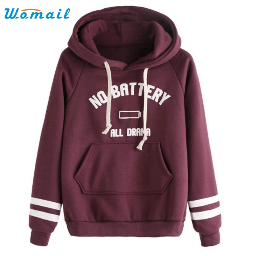 Women Autumn Winter Sweatshirt Letter Print Casual Hoodies Long Sleeve Female Pullover Tops Women's Clothings Amazing