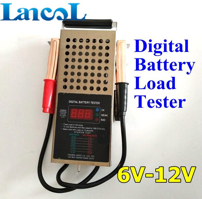 Portable 6V12V Battery Tester Equipment Diagnostic Tool Testador De Charger/ Alternator/ Battery Load Tester Automotive/ Car