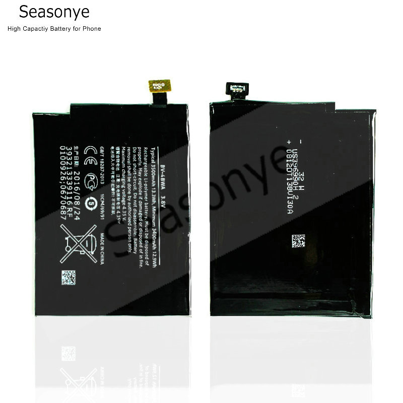 NEW 2pcs/lot 3500mAh / 13.3Wh BV-4BWA / BV 4BWA / BV4BWA Replacement Battery For <font><b>Nokia</b></font> Lumia <font><b>1320</b></font> Batterie Bateria Batterij image