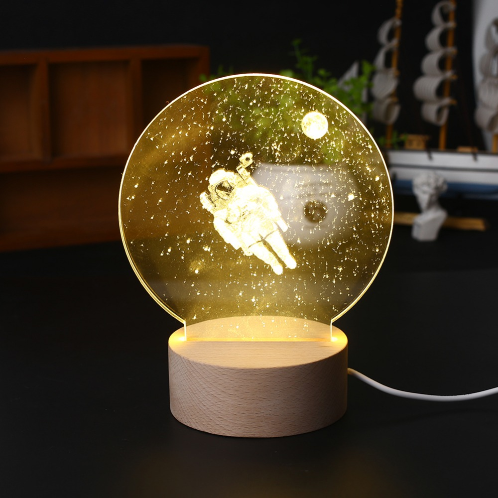 Creative 3D Night Light Modeling Lamp Astronaut Style Gadget Christmas New Year Party Decoration Decor Ornament Drop Shipping