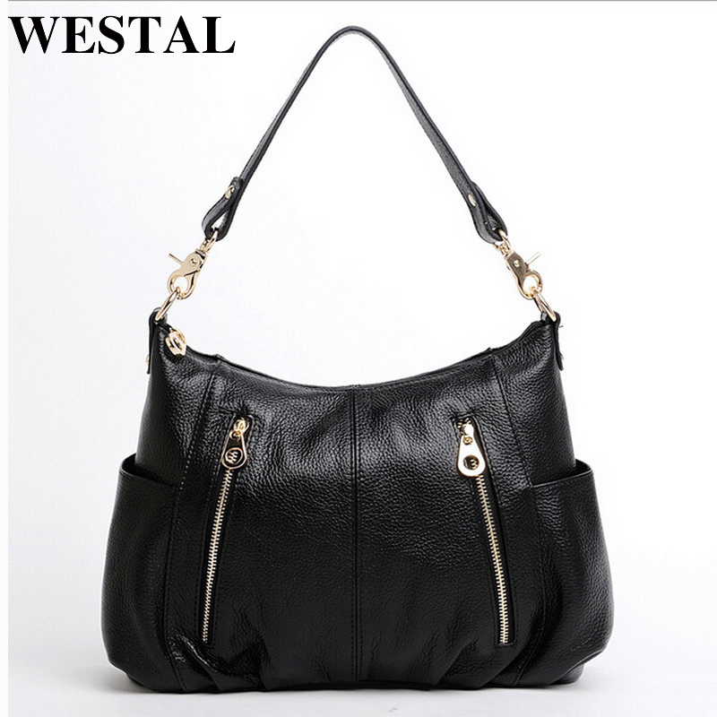 WESTAL Genuine Leather Bag Women Bag Women Shoulder Crossbody Bags Fashion Lady Leather Handbag Casual Tote Bags bolsa feminina