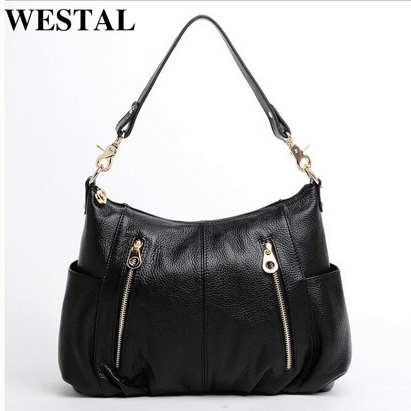 WESTAL Messenger Bag Women's Shoulder Bag ladies genuine leather Female crossbody bags for women leather handbags bags womens