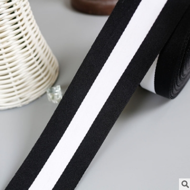 Clothing and apparel belts, black and white, non-elastic webbing, multi-scale polyester webbing 50yards/pack