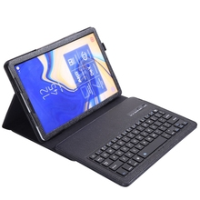 Lychee Keyboard Case For Samsung Galaxy Tab S4 10.5 Model Sm-T830/T835/T837,Slim Shell Lightweight Stand Cover With Detachable