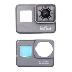 Image 3 - Płyta czołowa przednia okładka płyta czołowa dla GoPro Hero 6 5 oryginalna obudowa ramowa naprawa część zamienna naprawić Hero5 Hero6 z przodu Panel obudowa