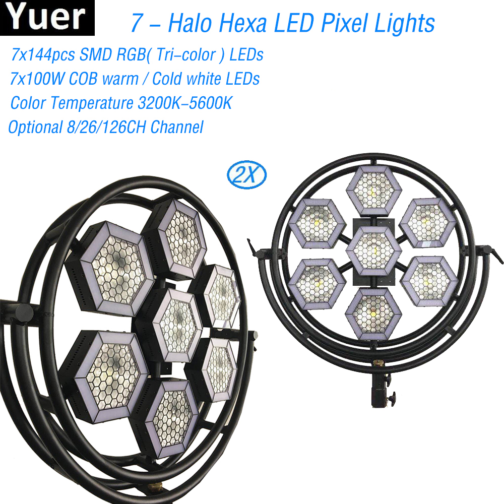 2Pcs/Lot High Power 7x144 Halo Hexa LED Pixel Light DJ Disco Party Music Stage Lights Professional DJ Equipment Night light image