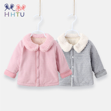HHTU Baby Plaid Coat Cotton Thick Warm Boys Girls Clothes Winter Casual Jacket Childrens Thickening Clothing Outerwear