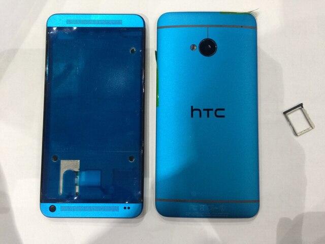 Для HTC новый M7/Синий одноместный вариант карты стентов в поле, в новый крышка батарейного отсека полный спектр shell