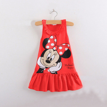 2018 summer new minnie Dress children children's clothing girls short-sleeved dress princess 1