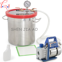 Stainless Steel Vacuum 220V 2L Vacuum Pump,280*280mm Degassing Chamber Vacuum Buckets high air tightness, high vacuum degree