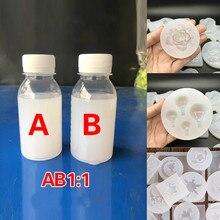 Пищевая силиконовая жидкость полупрозрачная 1: 1 соотношение натуральный пеногаситель Нетоксичная безвкусная форма для домашней еды