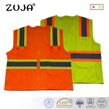 Good Quality High Visibility Reflective Waring Safety Vest Multi-Pockets
