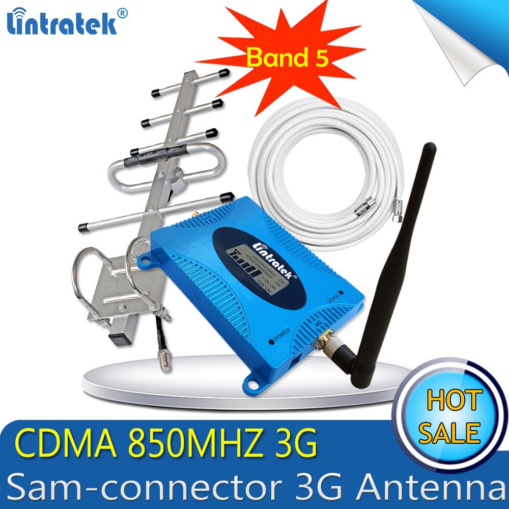 Lintratek GSM LTE 850 Mhz CDMA 3G 4G repetidor de celular UMTS 850 mhz amplificador sinal celular 3g signal booster 4G Antenne
