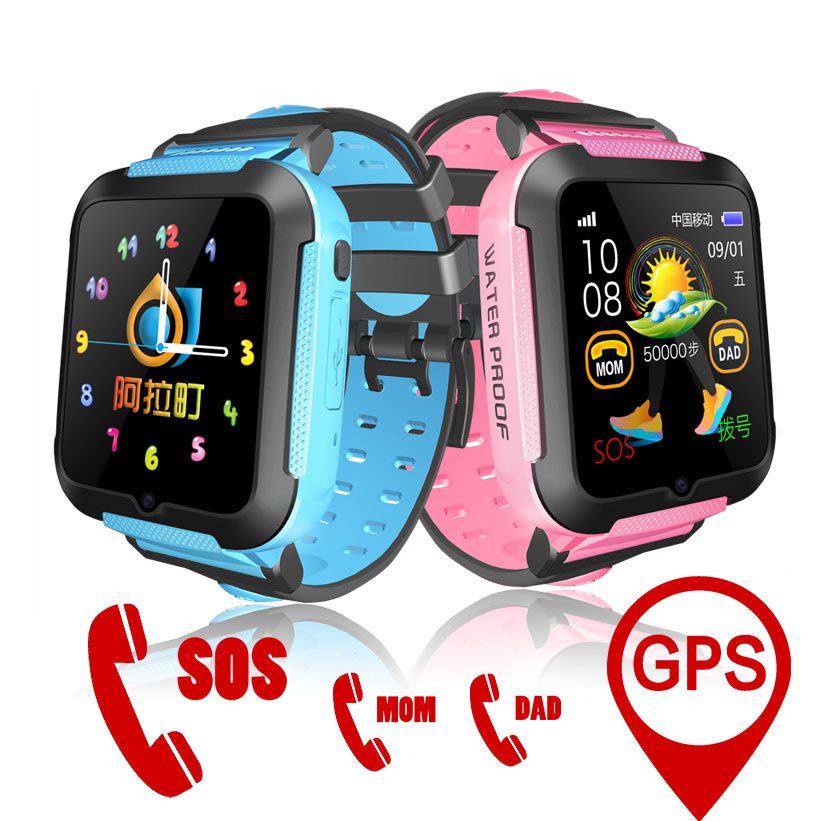 E7K Kids Smart Watch GPS Baby Tracking SOS Call Location Finder Waterproof with Remote Camera Listening Monitor Sport Bracelet