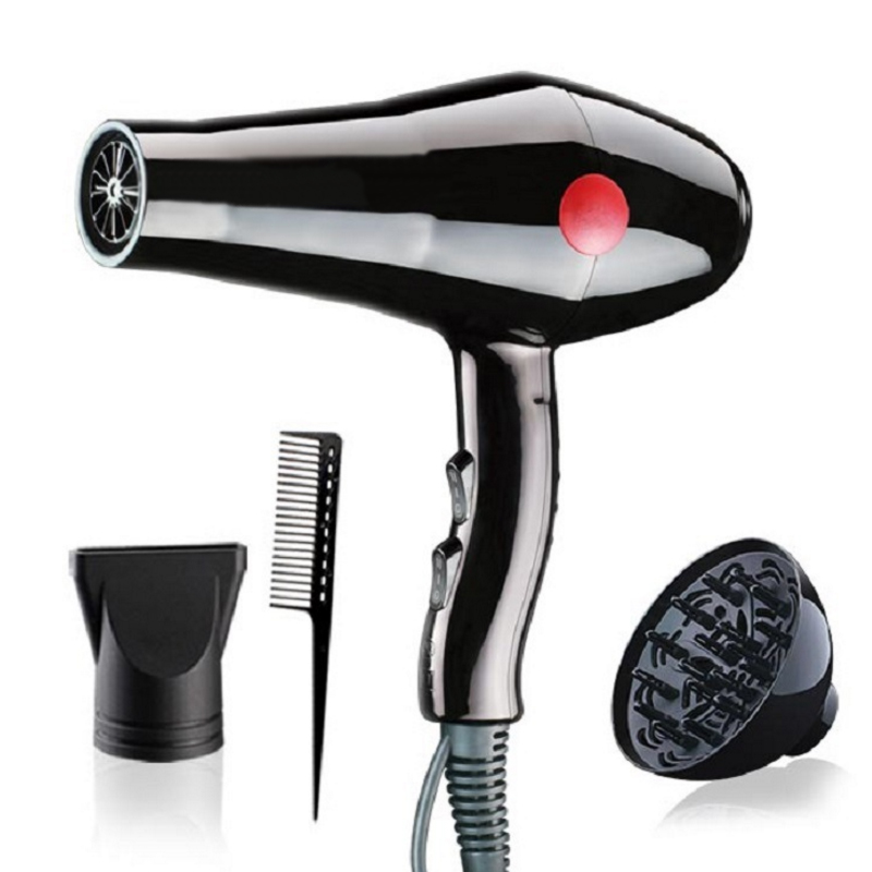 2017 Professional Hair Dryer Fast Styling Tools Hot And Cold Air Home Use Hairdryer Black Hair Blow Dryer With diffuser + Nozzle braun 3in1 multifunctional hair styling tool hairdryer hair curler hair dryer blow dryer comb brush hairbrush professional as720