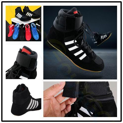 men women professional boxing wrestling shoes rubber outsole breathable combat shoe sneakers Martial arts training shoes image