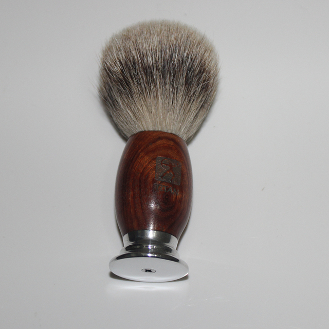 Men Shaving Brush Hand-made Badger Silvertip Brushes Pincel De Barbear Aluminum Handle Brocha De Afeitar Badger Hair Knot