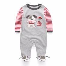 2018 Newborn Baby Boy Girl Romper 100% Cotton Long Sleeve Infant Bebe Clothing Cartoon Unisex Baby Clothes Anti-Scratch Gloves