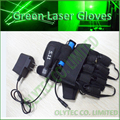 532nm green laser gloves with 4 units 100mW green laser modules, Directly charge via Power adapter