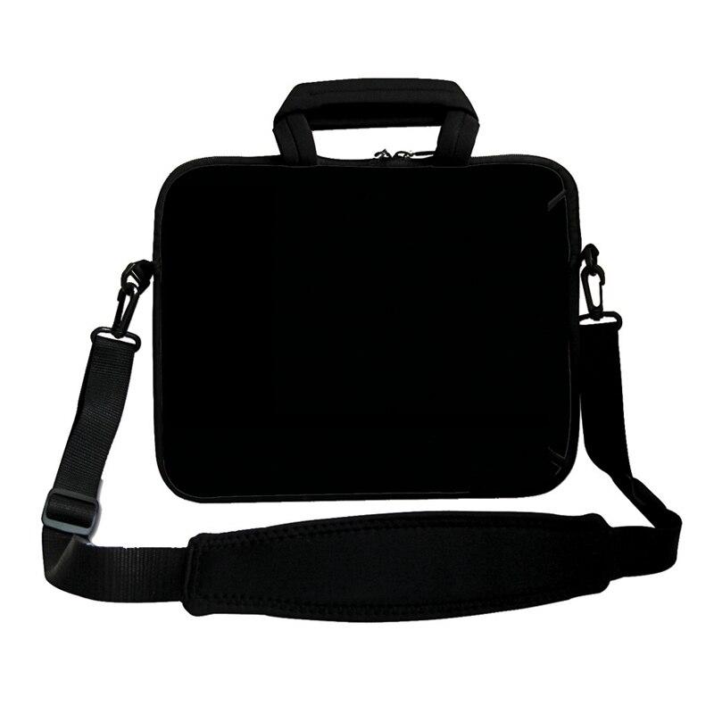 Pure Black 17 Inch Neoprene Laptop Shoulder Bag For Dell Apple Macbook 17.3