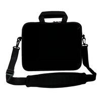 Pure Black 17 Inch Neoprene Laptop Shoulder Bag Sleeve Case For Dell HP Macbook 17 3