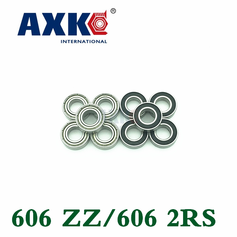 Axk 606 606z 606rs 606rs 17mm X 6mm X 6mm Single Row Shielded Deep Groove Ball Bearing 606zz 606 2rs 6*17*6mm Abec1-5 1 piece bu3328 6 6 33 27 5 29 5 mm z25 guide rail u groove plastic roller embedded dual bearing