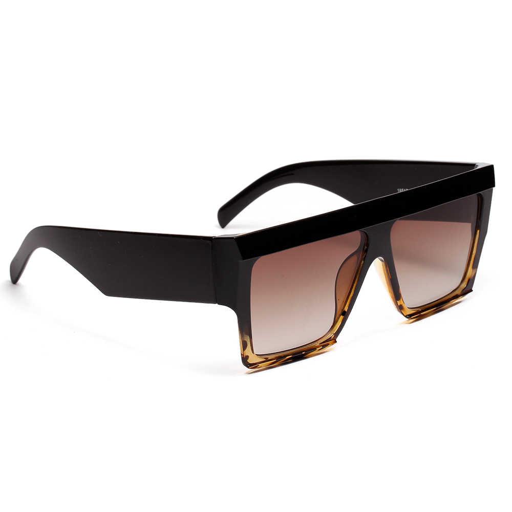 d550bb7d79 ... Gafas de sol cuadradas de gran tamaño Peekaboo marco grueso 2019 negro  leopardo azul Rosa transparentes ...